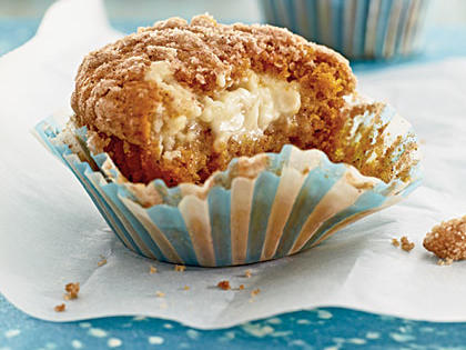 Pumpkin-Cream Cheese Streusel Muffins